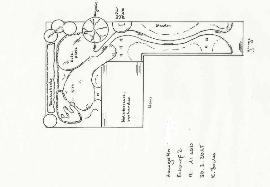 Kleiner Hausgarten Entwurfsplan Gartengestaltung Gartenplanung