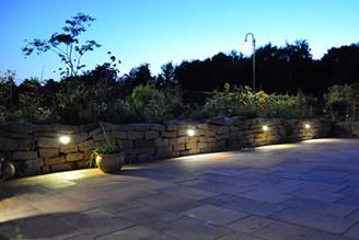 Mauer Beleuchtung Trockenmauer