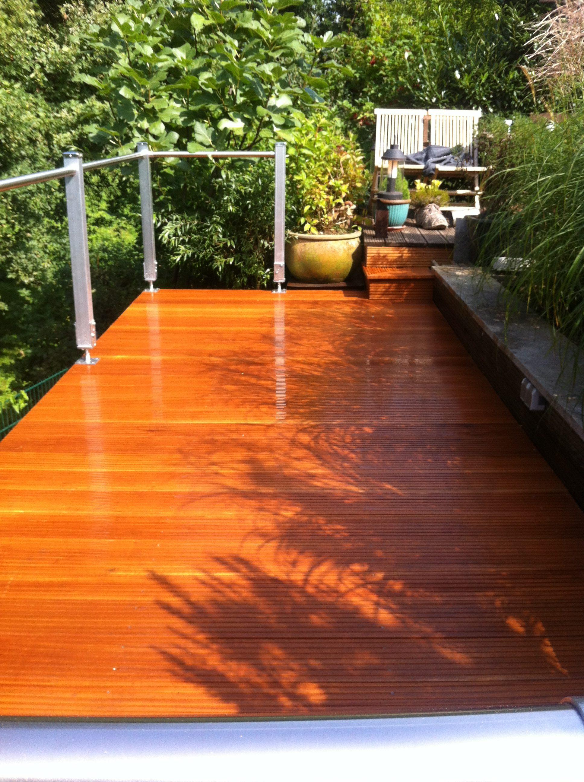 Hochterrasse aus Holz Holzterrasse Gartendielen