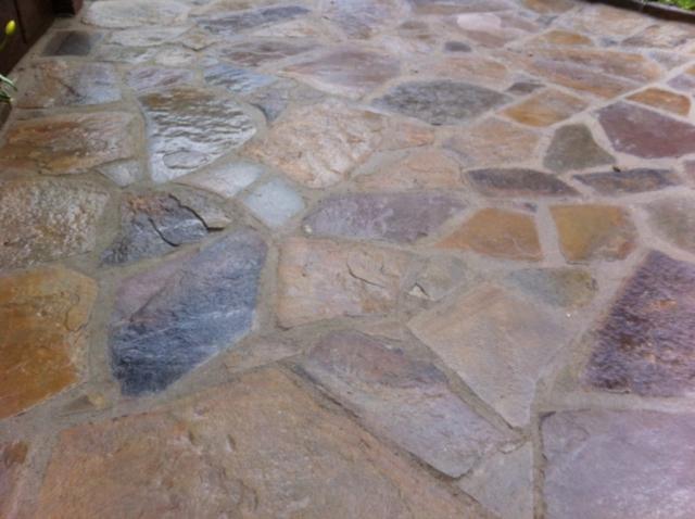 Bruchsteinplatten polygonal